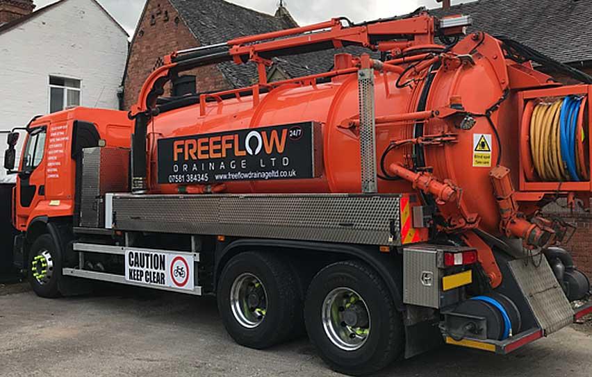 Unblocking drains Shrewsbury, Shropshire, West Midlands.